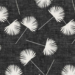 fan palm - dark grey - palm leaves - LAD19