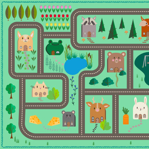 Kawaii Animal House PlayMat