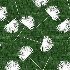 fan palm - green - palm leaves - LAD19