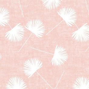fan palm -  light pink - palm leaves - LAD19