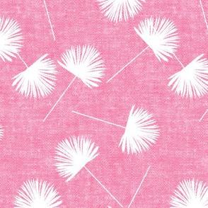 fan palm - pink - palm leaves - LAD19