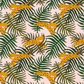 Jungle leopard kids leaf print