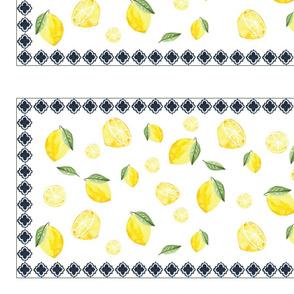 Lemons and Cobalt Tile Frame
