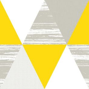 Grey Yellow White Triangles