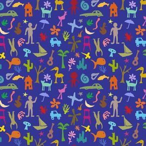 Matisse inspired blue