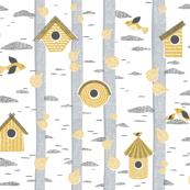 birch birdhouses