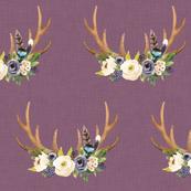 purple linen antlers