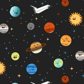 Happy Planets in Space