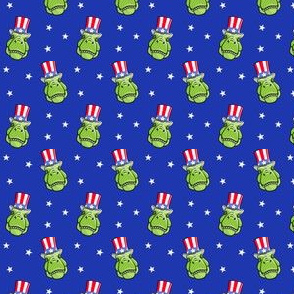 (micro scale) Patriotic Trex  - Tyrannosaurus rex dinosaur  - stars on blue LAD19BS