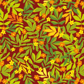 floral in autumn colors