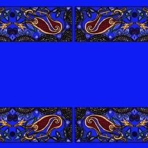 celtic hound 2-for collars-on Blue