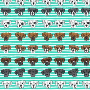 """(3/4"""" scale) all the boxers rows - teal stripes C18BS"""