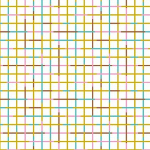 Check please little checkered geometric modern minimal design grid summer girls ochre pink blue SMALL