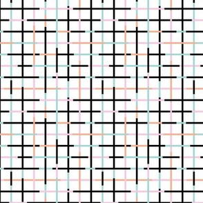 Check please little minimal style checkered geometric modern minimal design grid summer girls pink peach SMALL
