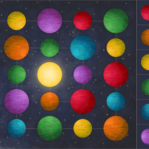 ★ BLAST OFF ! ★ Space Playmat – Planets Giant Game Cut-and-Sew