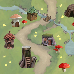 Fairy Village Playmat