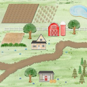 Horse Ranch and Farm Playmat