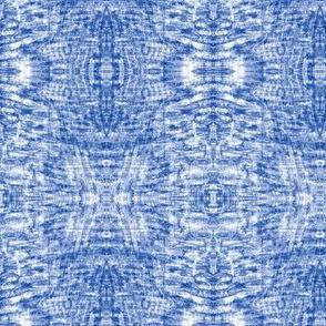 Cool Blue Shibori Ripples
