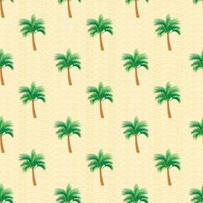 Palm Tree Polka Dot on  Summer Sand