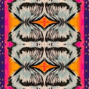 Pink, Orange, Purple Blue Texture Wings Design
