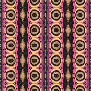Circle Gold and Pink Rows
