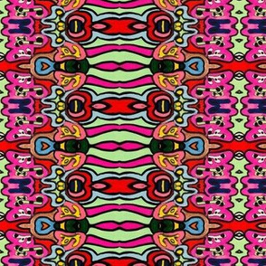 Bright Abstract Shapes and Psychedelic Pattern