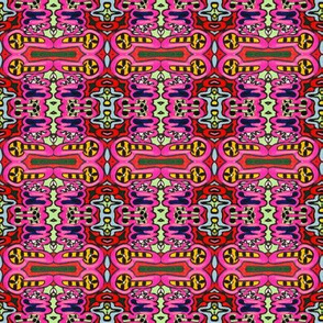 Bright Colorful Abstract of Repeating Shapes
