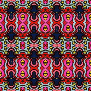 Bright, Colorful, Repeating Odd shapes