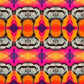 Orange, Pink and Purple background for flower blue wings