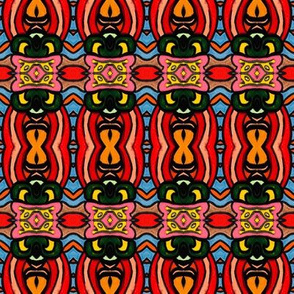 Colorful bright shapes repeat pattern