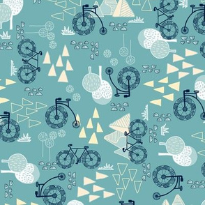 Whimsical Bike Around - Turquoise