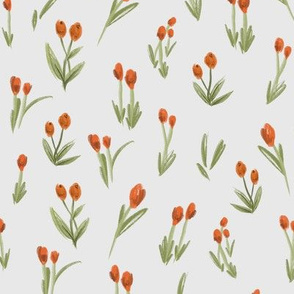 Peach Garden: Subtle flowers