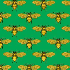 Bees Light Green
