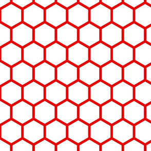 red and white honeycomb