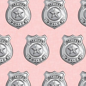 police badge pink C19BS