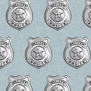 police badge light  blue C19BS