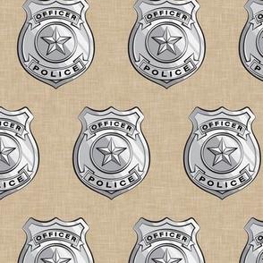 police badge beige  C19BS