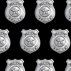 police badge black C19BS