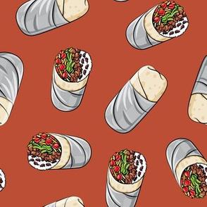 burrito toss on rust - tex-mex food  LAD19