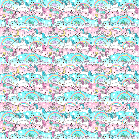 2 custom extremely small unicorns fabric by raveneve on Spoonflower - custom fabric