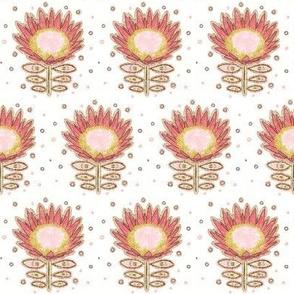 """Tribal Aussie Protea (white) 2"""""""