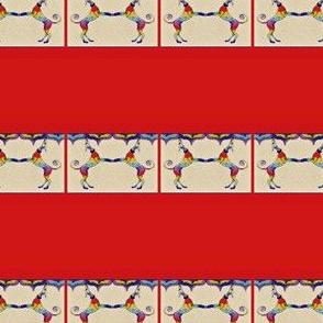 "Rainbow_Hounds_Mirrored-RedFrame - (collars  1.5-2"")"