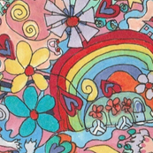 Happy Hippie Playmat