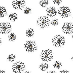 Little daisy garden boho spring daisies in trend colors yellow white