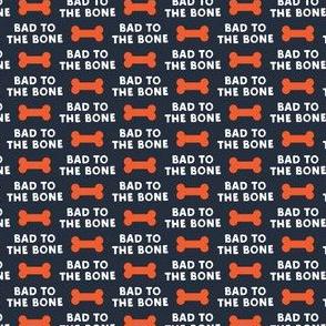 (micro scale) bad to the bone - red on blue w/ dog bone C19BS