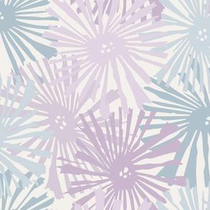 Custom Cactus blooms lavender ice blue