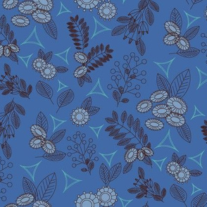 Geoflower Retro Mono Blue-01