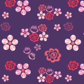 Floating Floral - Grape
