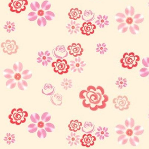 Floating Floral - Cream