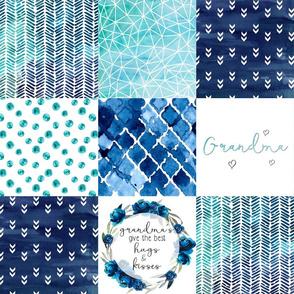 Grandma//Blues - Wholecloth Cheater Quilt